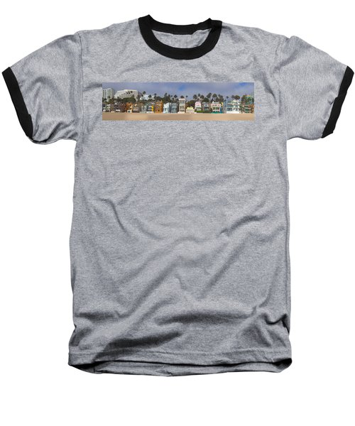 Houses On The Beach, Santa Monica, Los Baseball T-Shirt
