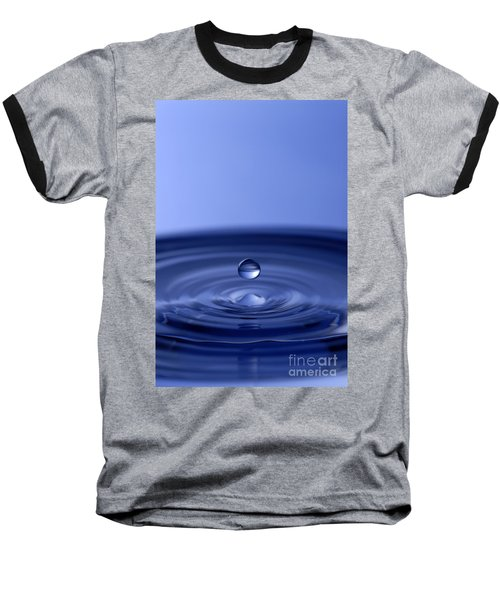 Hovering Blue Water Drop Baseball T-Shirt