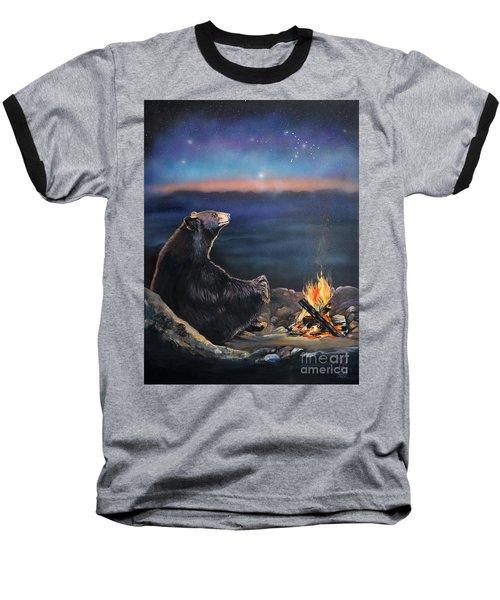 How Grandfather Bear Created The Stars Baseball T-Shirt