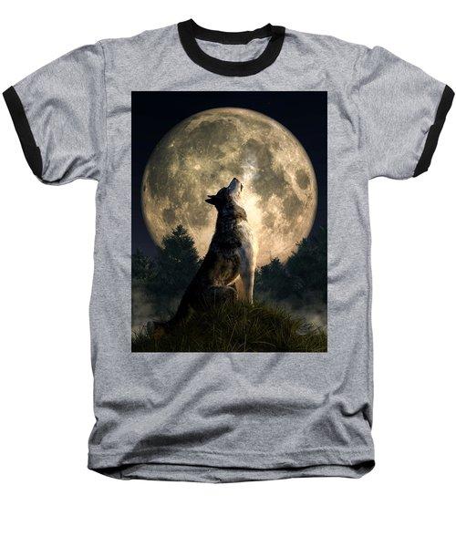 Howling Wolf Baseball T-Shirt
