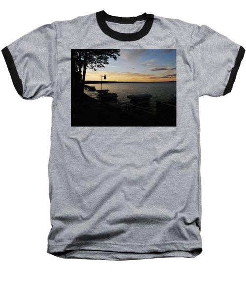Hubbard Lake Sunset Baseball T-Shirt