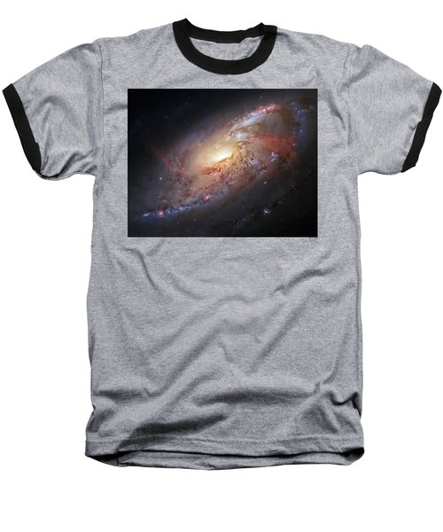 Hubble View Of M 106 Baseball T-Shirt by Adam Romanowicz