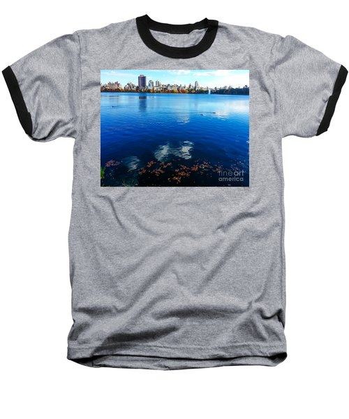 Hudson River Fall Landscape Baseball T-Shirt