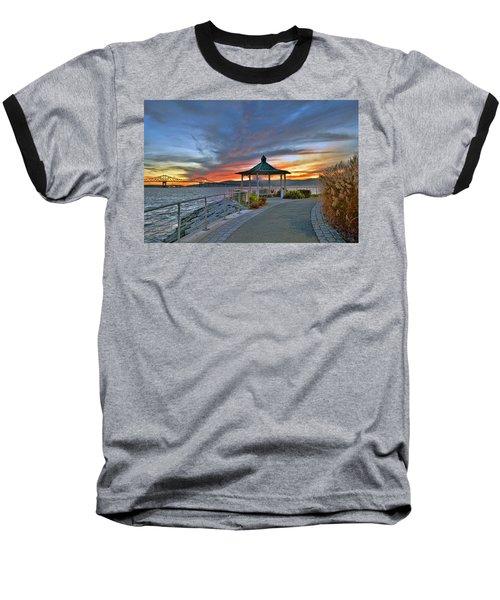 Hudson River Fiery Sky Baseball T-Shirt
