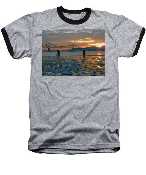 Hudson River Icey Sunset Baseball T-Shirt