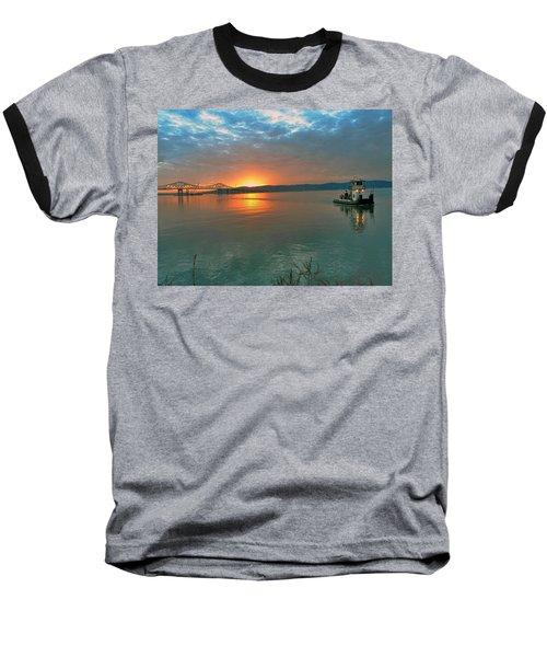 Hudson River Sunset Baseball T-Shirt