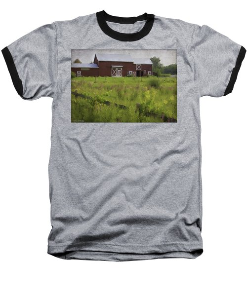 Hudson Valley Barn Baseball T-Shirt