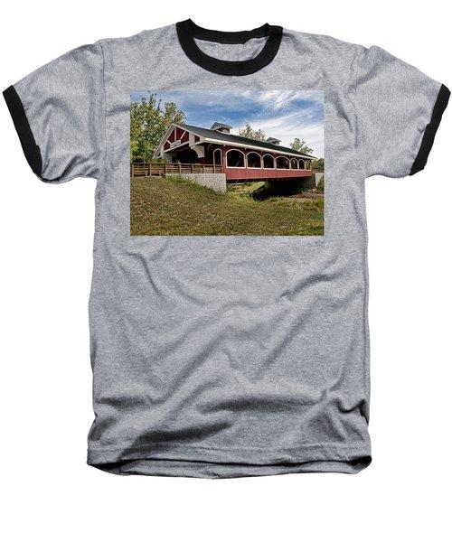 Hueston Woods Covered Bridge Baseball T-Shirt