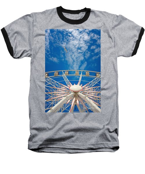 Huge Ferris Wheel Baseball T-Shirt