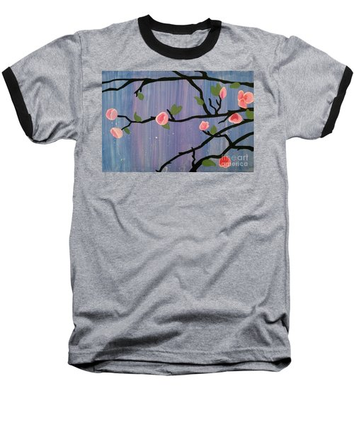 Baseball T-Shirt featuring the painting Humble Splash by Marisela Mungia