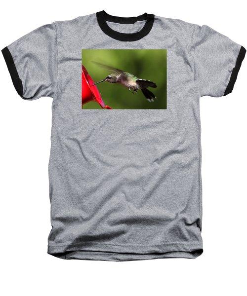 Look Hummer Eyelashes Baseball T-Shirt by Reid Callaway