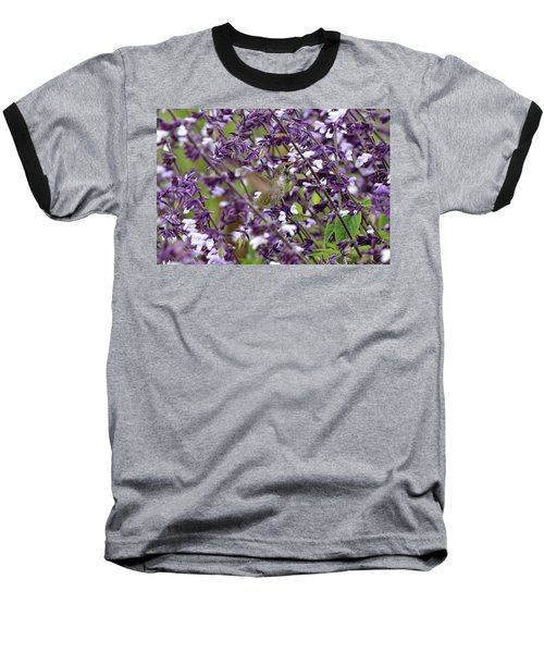 Hummingbird Flowers Baseball T-Shirt