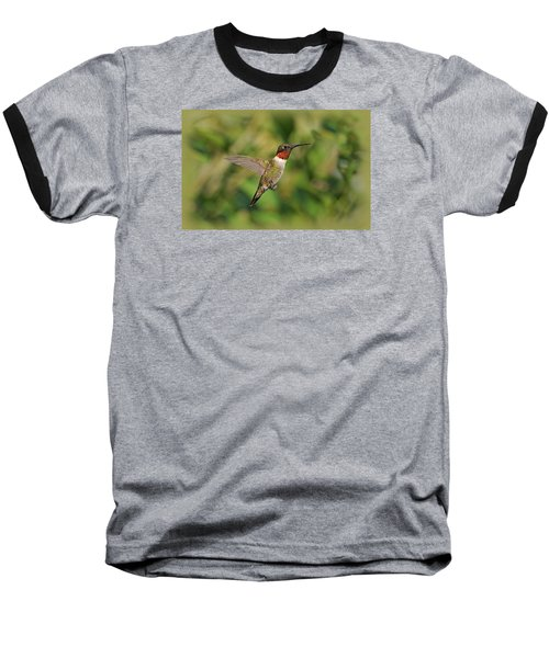 Hummingbird In Flight Baseball T-Shirt