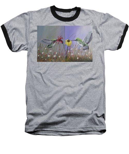 Hummingbird Pair Baseball T-Shirt