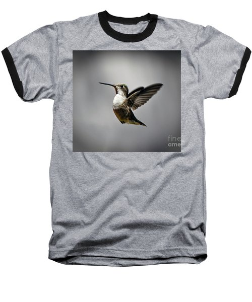 Hummingbird Baseball T-Shirt by Savannah Gibbs