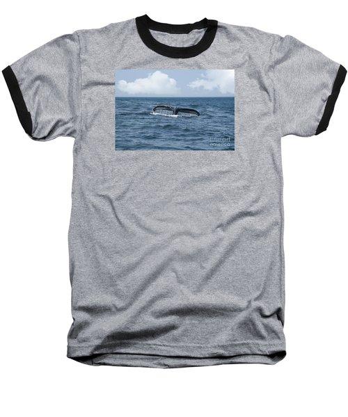 Humpback Whale Fin Baseball T-Shirt