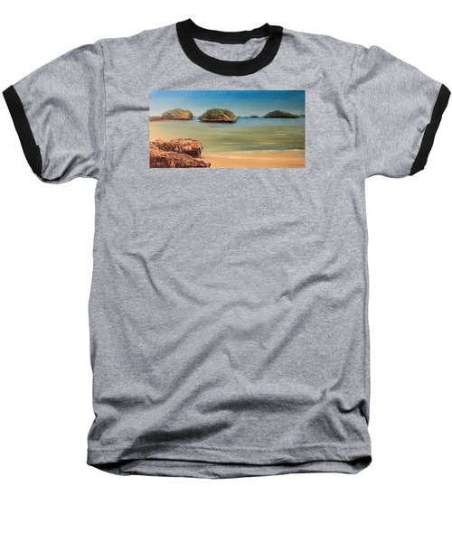 Hundred Islands In Philippines Baseball T-Shirt by Remegio Onia