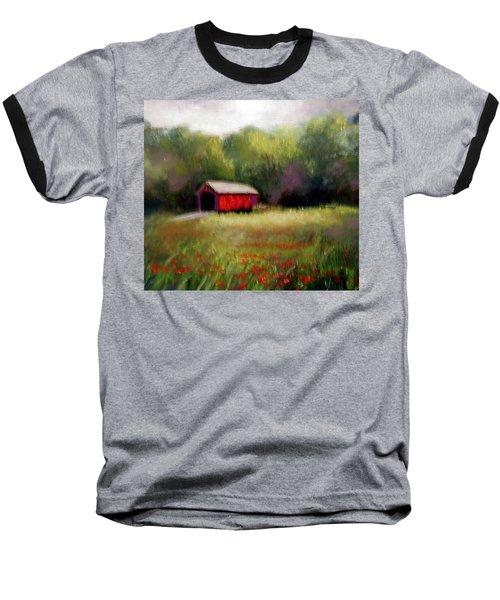 Baseball T-Shirt featuring the painting Hune Bridge by Gail Kirtz
