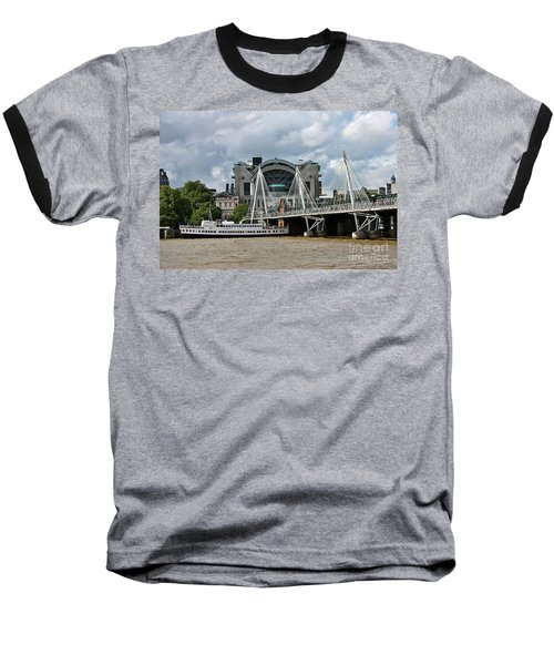 Hungerford Bridge And Charing Cross Baseball T-Shirt