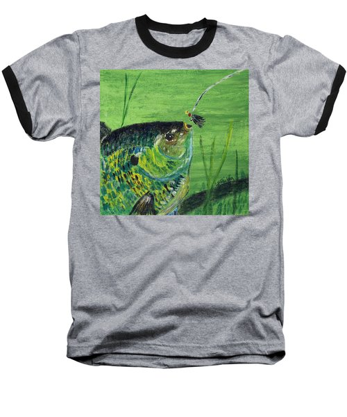 Hungry Bluegill Baseball T-Shirt