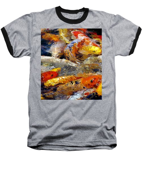 Hungry Koi Baseball T-Shirt