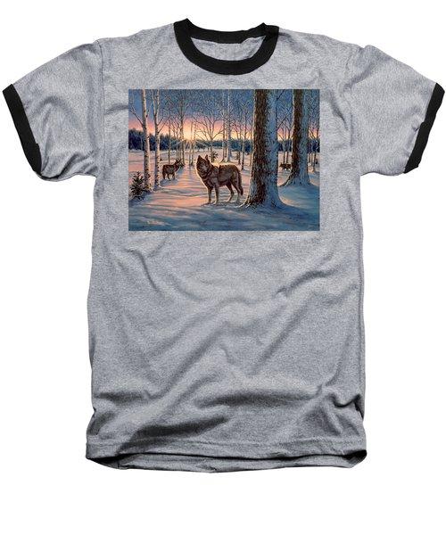 Hunters At Twilight Baseball T-Shirt