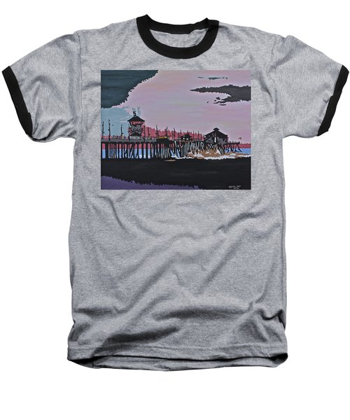 Huntington Beach Pier 1 Baseball T-Shirt