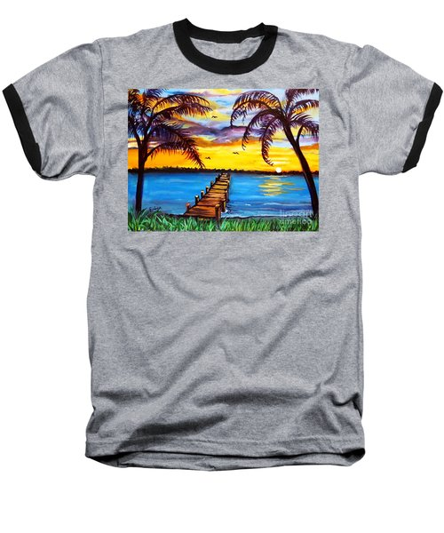 Baseball T-Shirt featuring the painting Hurry Sundown by Ecinja Art Works