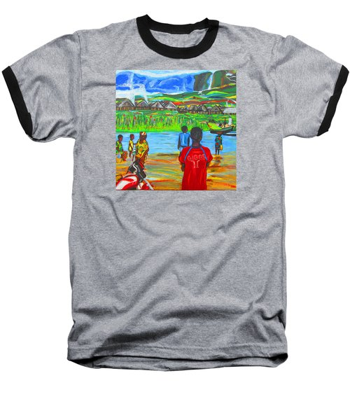 Baseball T-Shirt featuring the painting Hurry Up There - Ryan Giggs Tribute by Mudiama Kammoh