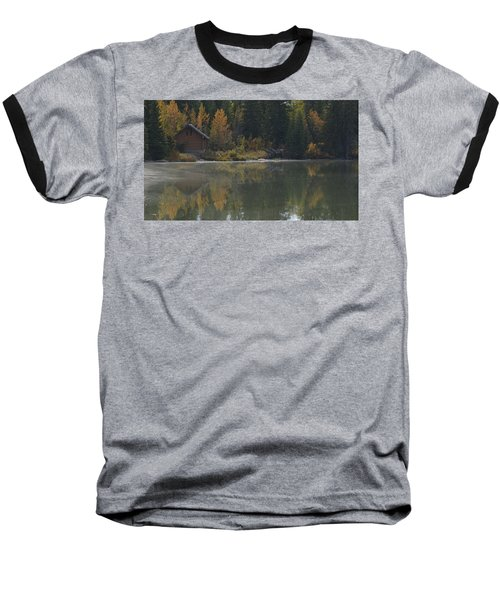 Hut By The Lake Baseball T-Shirt