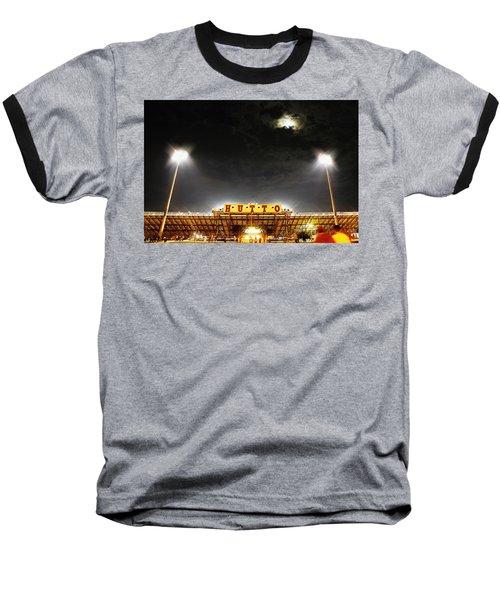 Hutto Hippo Stadium Baseball T-Shirt by Trish Mistric