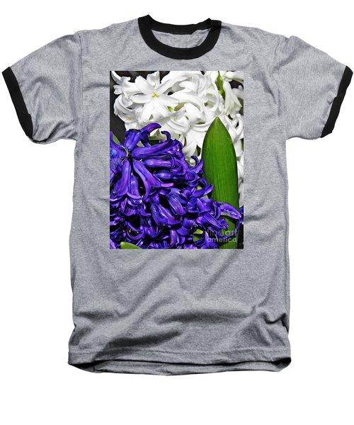 Hyacinths Baseball T-Shirt by Sarah Loft