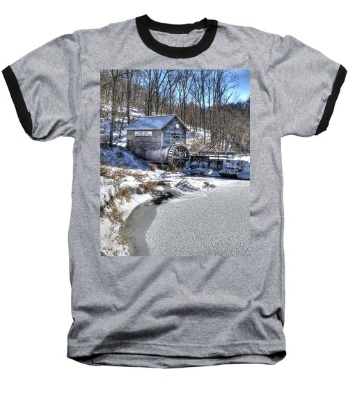 Hyde's  Mill In The Winter Baseball T-Shirt by Janice Adomeit