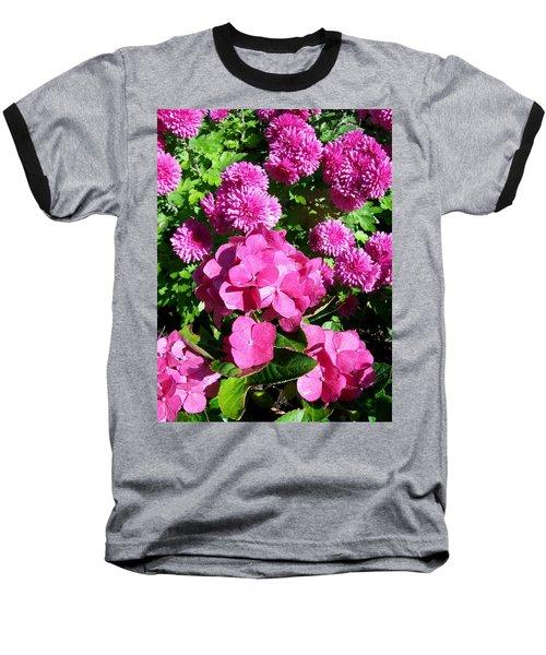Hydrangea And Mums  Baseball T-Shirt