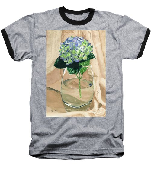 Hydrangea Blossom Baseball T-Shirt by Barbara Jewell