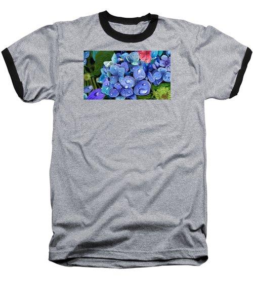 Hydrangea Drift  Baseball T-Shirt
