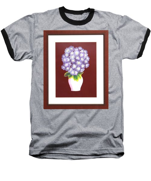 Baseball T-Shirt featuring the painting Hydrangea by Ron Davidson