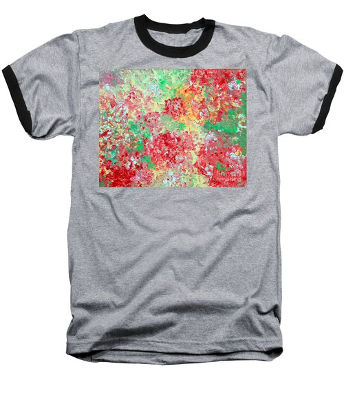 Baseball T-Shirt featuring the painting Hydrangeas II by Alys Caviness-Gober