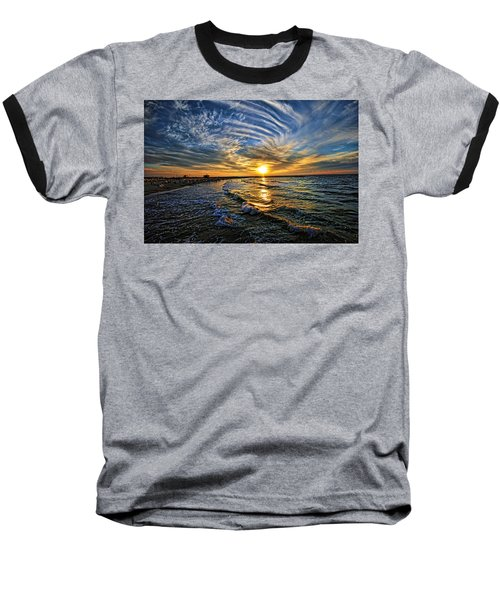 Hypnotic Sunset At Israel Baseball T-Shirt