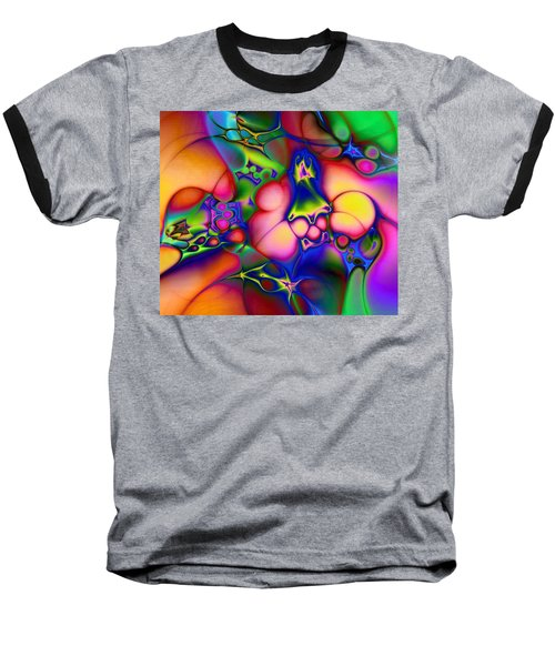 Baseball T-Shirt featuring the digital art I Don't Think We're In Kansas Anymore by Casey Kotas