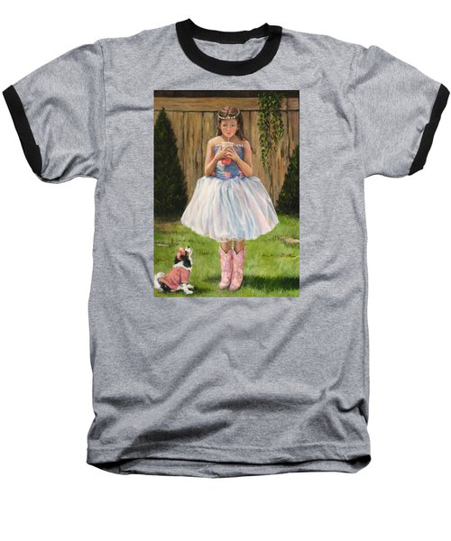 Baseball T-Shirt featuring the painting I Dressed Myself by Donna Tucker