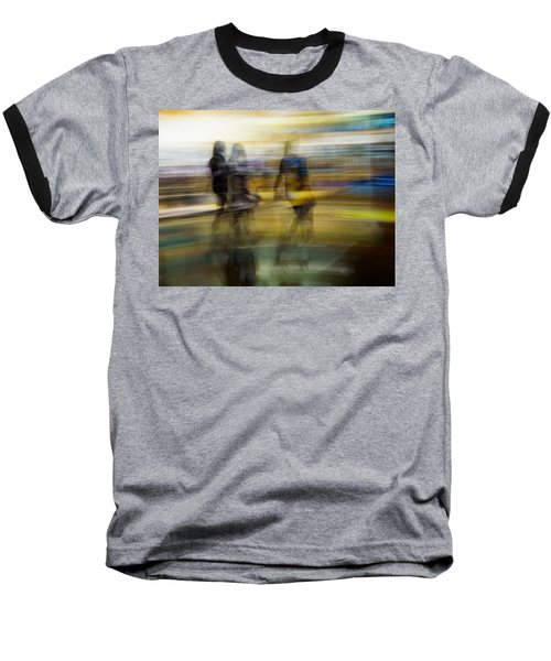 Baseball T-Shirt featuring the photograph I Had A Dream That You And Your Friends Were There by Alex Lapidus