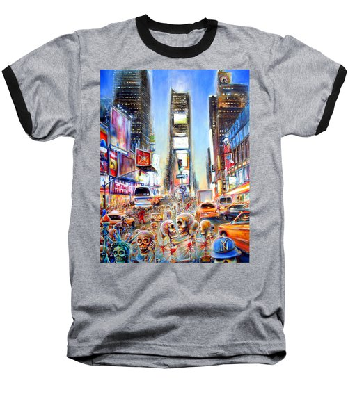 I Heart Ny Baseball T-Shirt by Heather Calderon