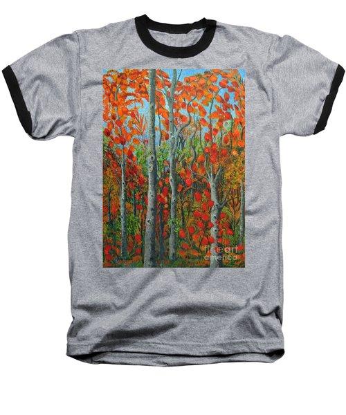 I Love Fall Baseball T-Shirt by Holly Carmichael