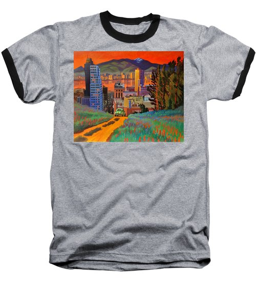Baseball T-Shirt featuring the painting I Love New York City Jazz by Art James West