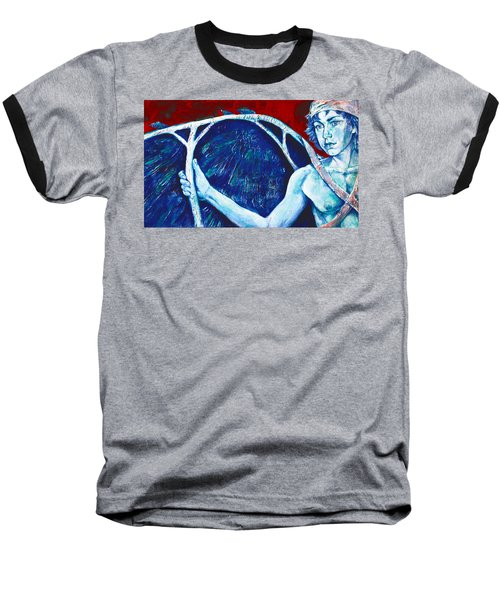 Icarus Baseball T-Shirt by Derrick Higgins