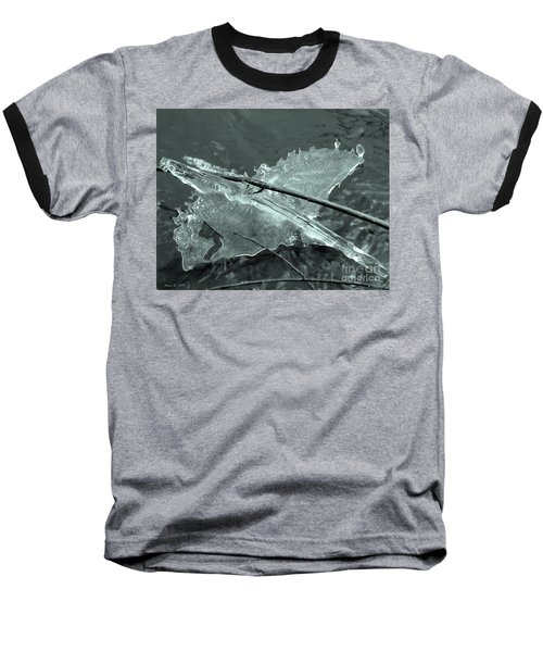 Baseball T-Shirt featuring the photograph Ice-bird On The River by Nina Silver