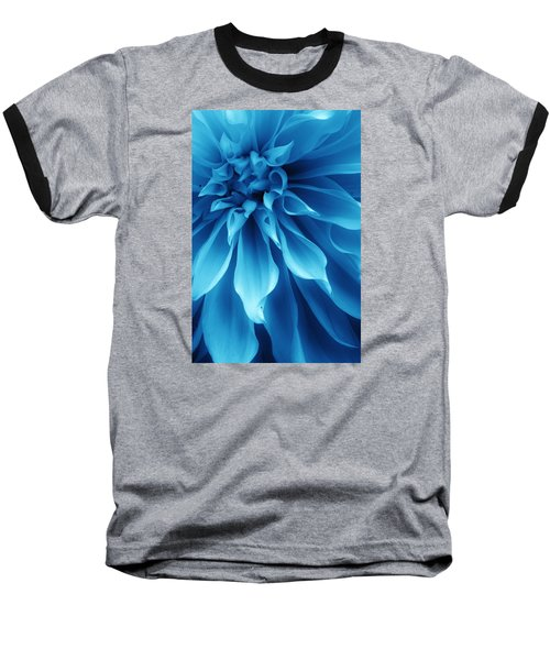 Ice Blue Dahlia Baseball T-Shirt