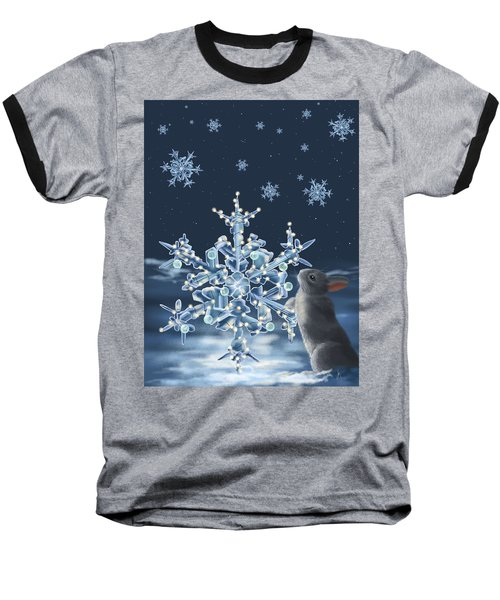 Ice Crystals Baseball T-Shirt