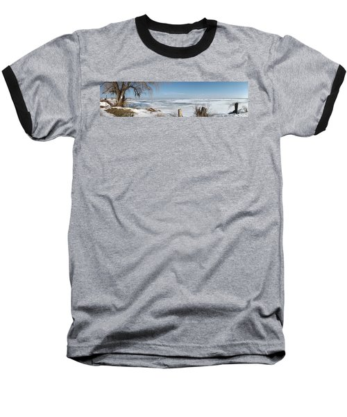 Ice Fishing Baseball T-Shirt